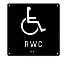 Taktil skylt med punktskrift - RWC