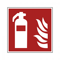 Upplysningsskylt: Brandsläckare, brandsläckarskylt