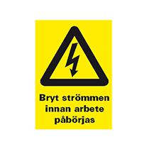 Varningsskylt: Arbete pågår