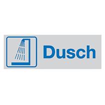Skylt Dusch (alu)