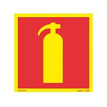Skylt Brandsläckare efterlysande
