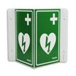Skylt hjärtstartare