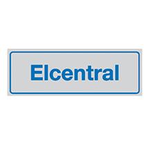 Skylt Elcentral (Alu)