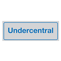 Skylt Undercentral