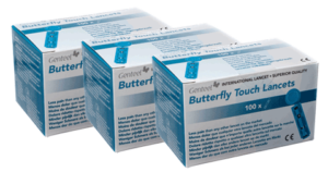 Butterfly touch lancette