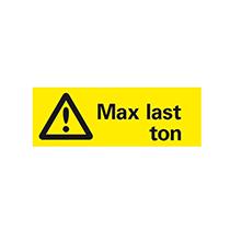 Skylt för maxlast