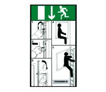 Upplysningsskylt räddningsstege