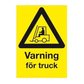 Varningsskylt Varning för truck