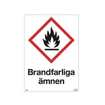 Dekal Brandfarliga ämnen A5