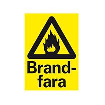Skylt A4: Brandfara