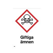 Varningsskylt Giftiga ämnen