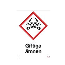 Varningsdekal Giftiga ämnen