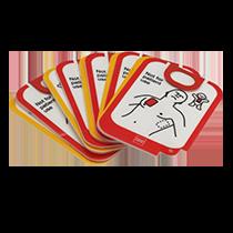 Träningselektroder Lifepak CR2, 5-pack