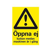 Varningsskylt: Klämrisk