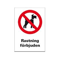 Rastning av hund förbjuden