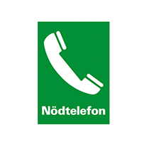 Skylt Nödtelefon