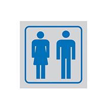Skylt Toalett - Man/Kvinna