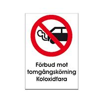 Skylt Förbud mot tomgångskörning