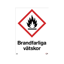 Skylt Brandfarliga vätskor
